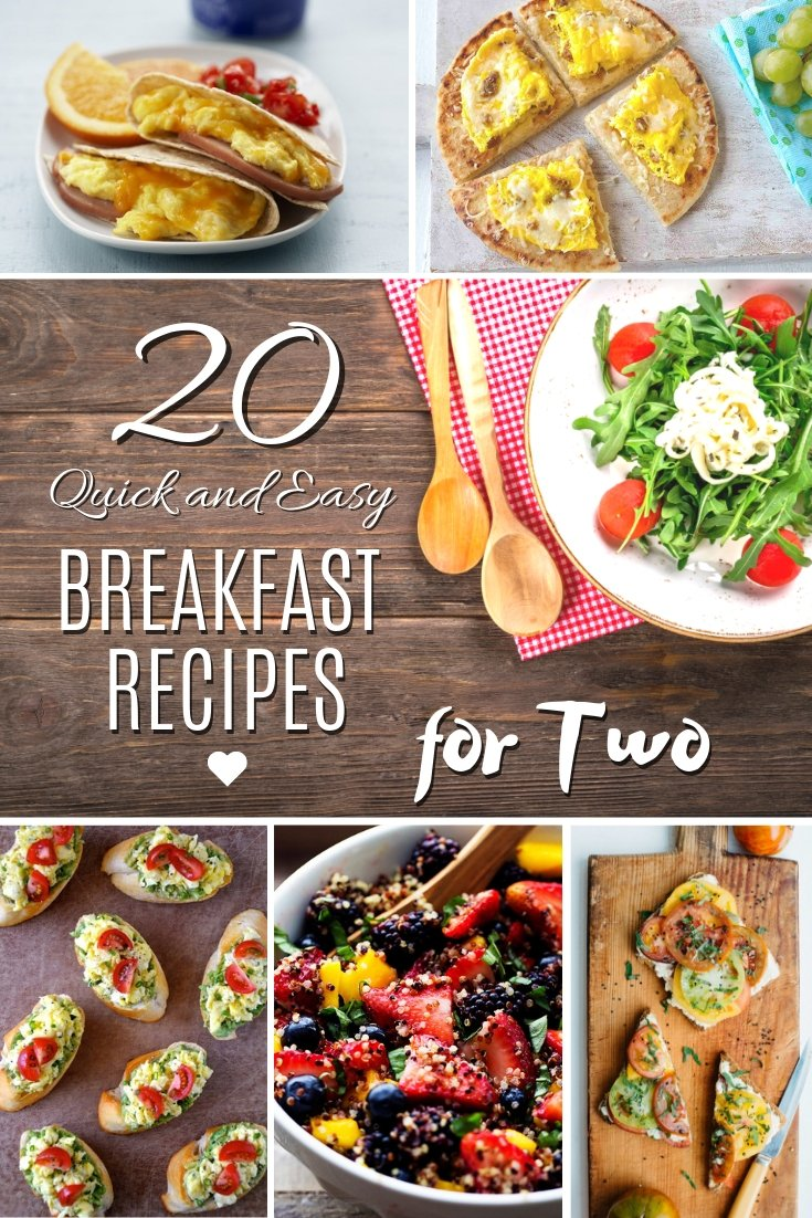 20 Quick and Easy Breakfast Recipes for Two - Make yourself and your significant other the perfect breakfast for two. Here are 20 recipes to choose from! #recipes #breakfast