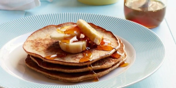 Banana and Almond Butter Pancakes #breakfast #recipe