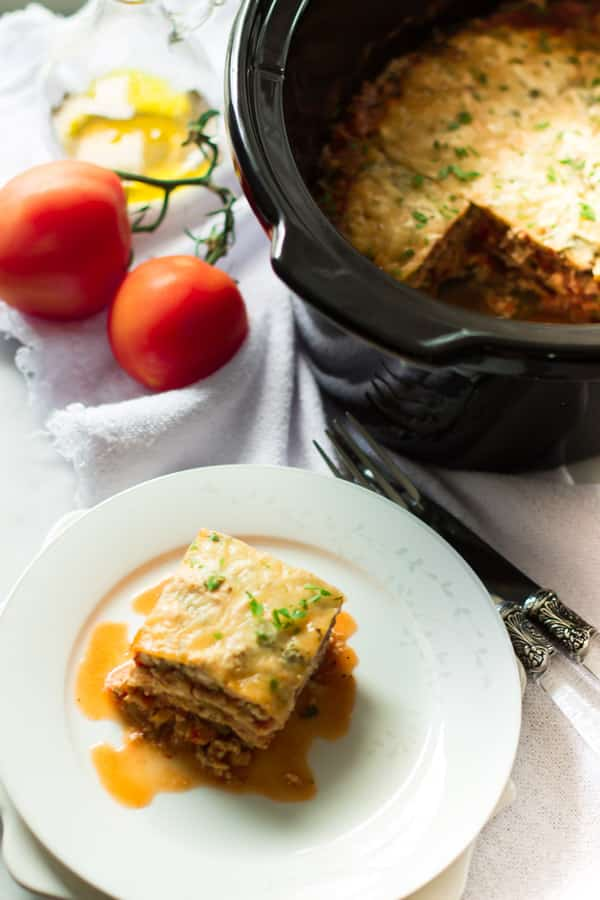 Slow Cooker Zucchini Lasagna #recipe #dinner