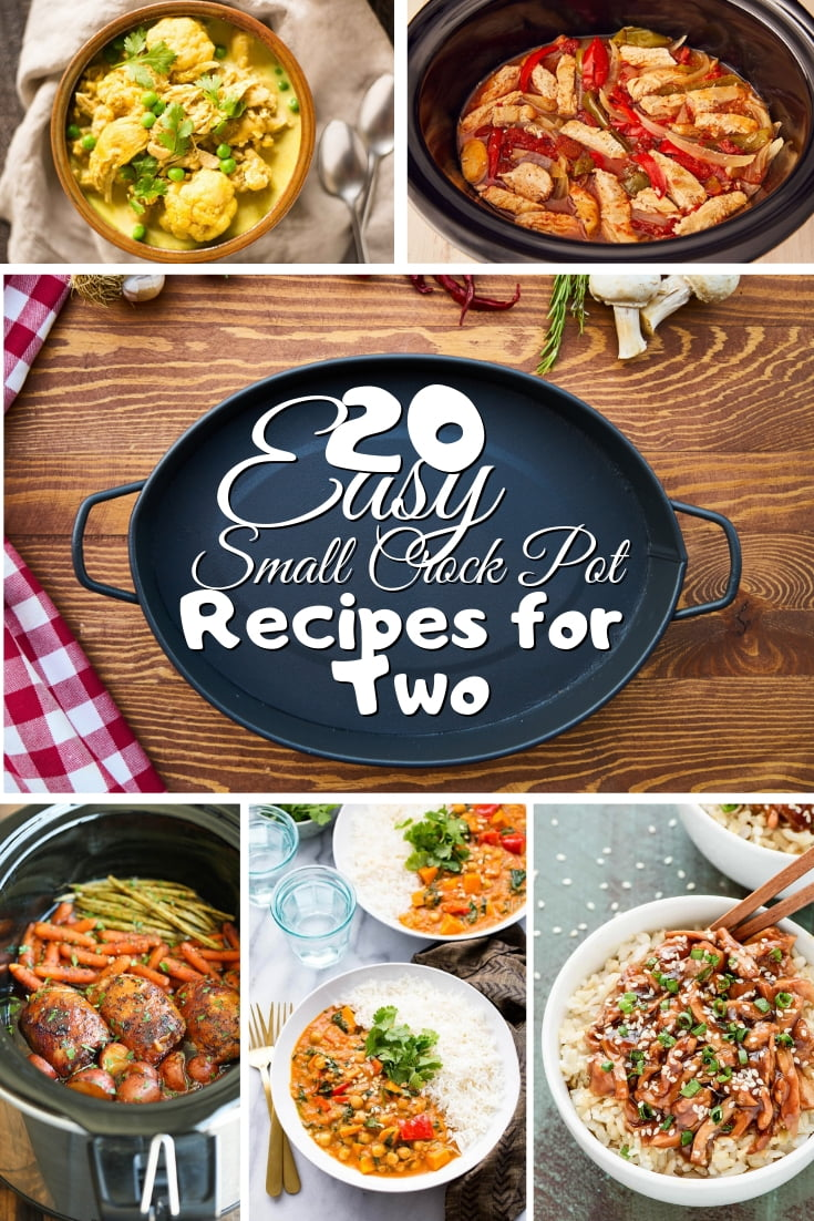 Want an easy dinner for you and your spouse? All you need is just a small crockpot and these 20 easy crockpot recipes for two! #recipes #crockpot
