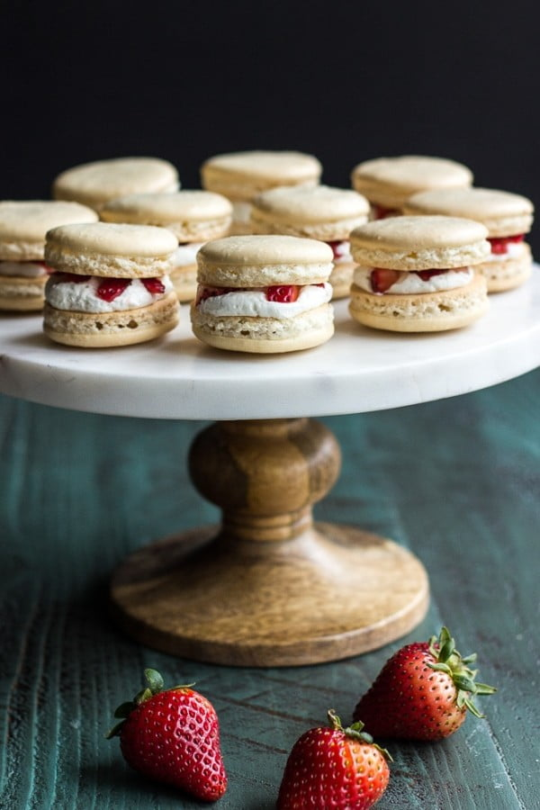 Strawberry Shortcake Macarons #recipe #dessert