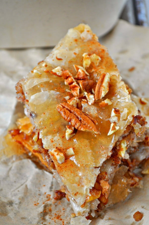 Vegan Apple Pie Baklava #dessert #appleplie #recipe