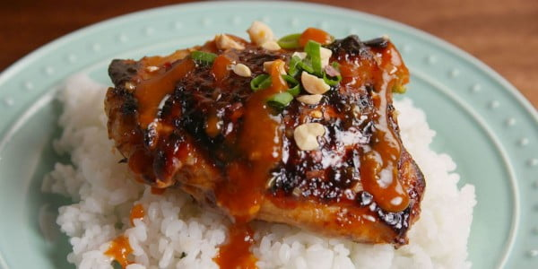 Thai Glazed Chicken #chicken #recipe #dinner