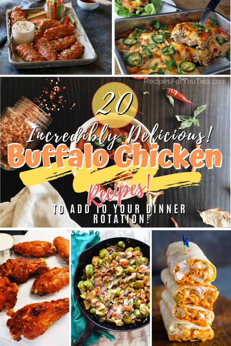 Discover incredibly delicious buffalo chicken recipes. Add them to your rotation. Great list! #recipe #buffalochicken #chicken #dinner