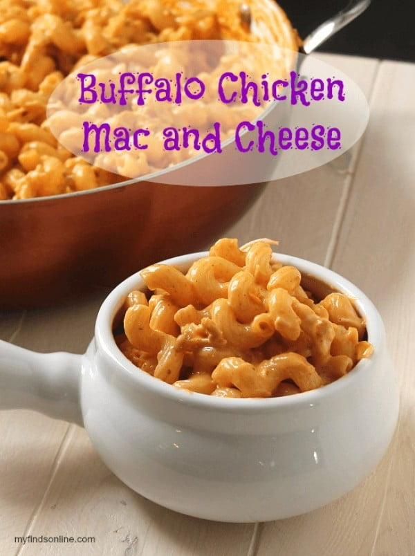 Buffalo Chicken Macaroni and Cheese #recipe #chicken #dinner