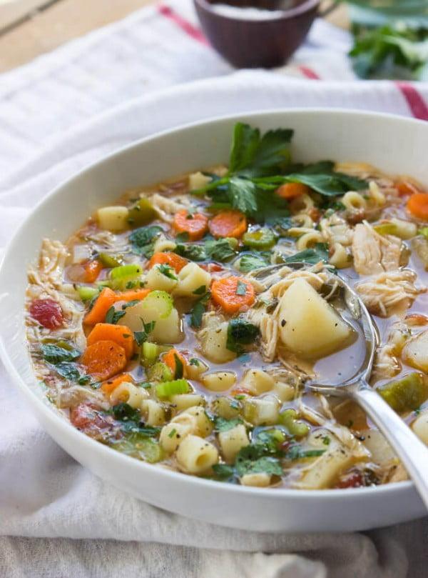 Sicilian Chicken Soup #chicken #soup #dinner #recipe