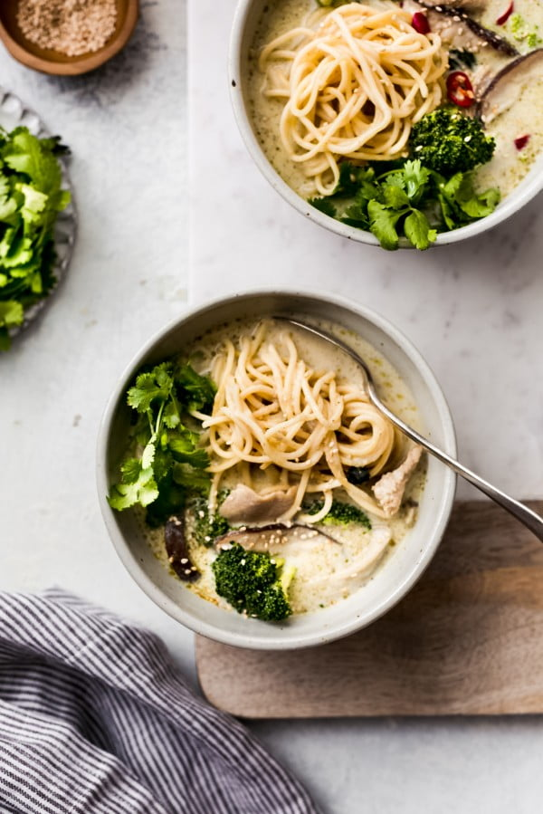 Thai Green Curry Chicken Soup Recipe #chicken #soup #dinner #recipe