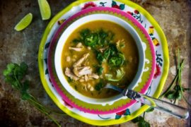 Spicy Lime Jalapeno Chicken Soup #chicken #soup #dinner #recipe