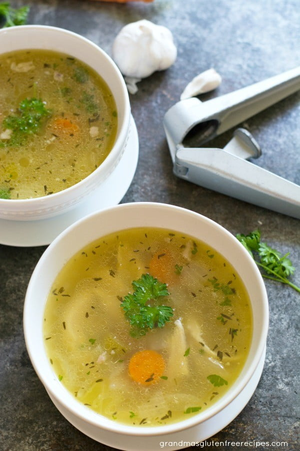 Grandma's Chicken Soup From Scratch #chicken #soup #dinner #recipe