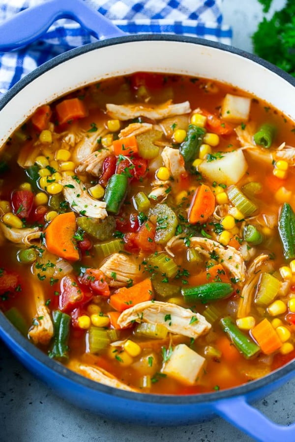 Chicken Vegetable Soup #chicken #soup #dinner #recipe