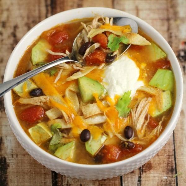 Chicken Tortilla Soup #chicken #soup #dinner #recipe