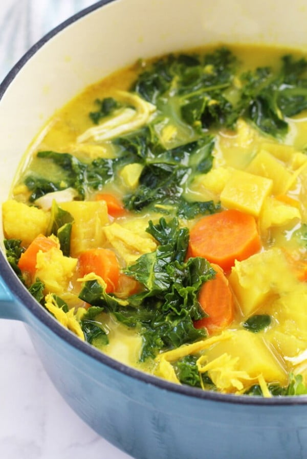 Anti-Inflammatory Turmeric Chicken Soup (Paleo, AIP, Whole 30) #chicken #soup #dinner #recipe