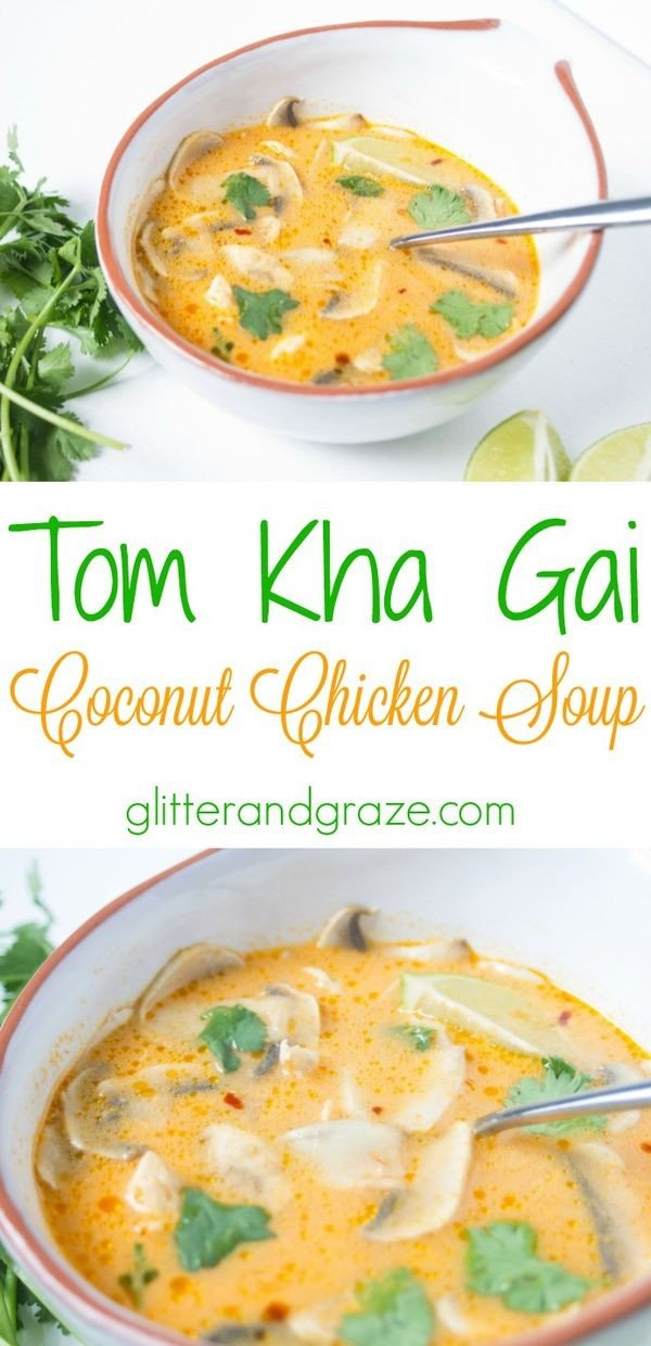 Tom Kha Gai- Coconut Chicken Soup #chicken #soup #dinner #recipe