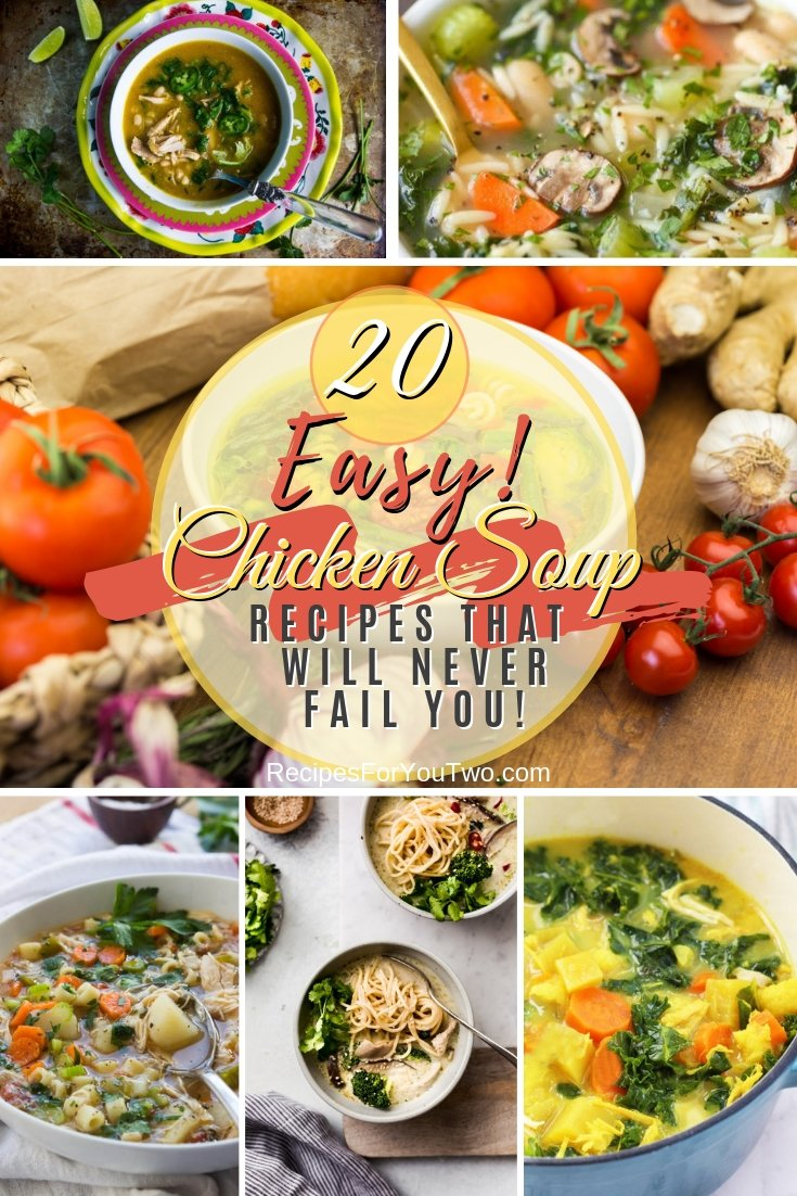 What can pick you up better than chicken soup? These are the best easy chicken soup recipes that will never fail you! #recipe #chicken #soup #dinner