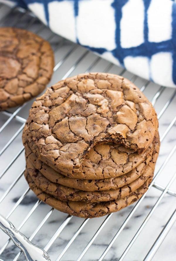 Malted Brownie Cookies #dessert #chocolate #cookies