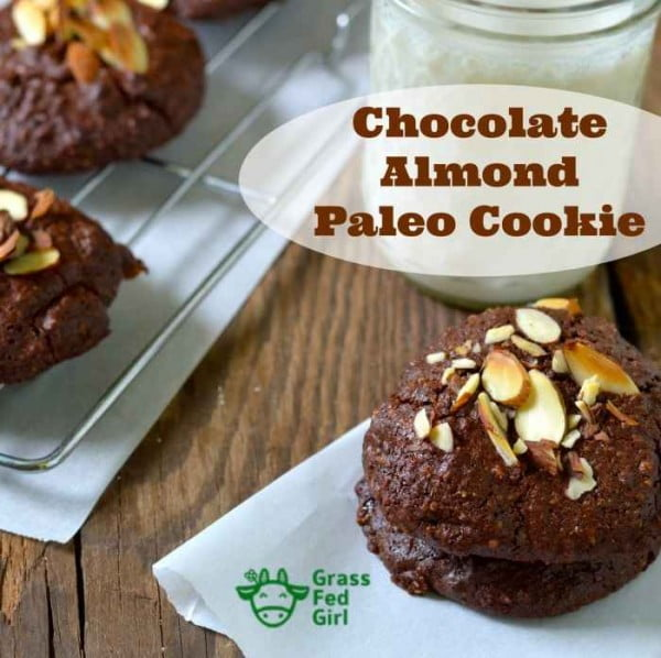 Homemade chocolate cookie recipe (paleo, dairy free, gluten free, low carb) #dessert #chocolate #cookies