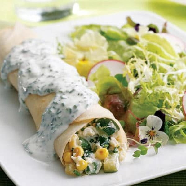 Summer Vegetable Crepes Recipe #crepes #recipe #dinner