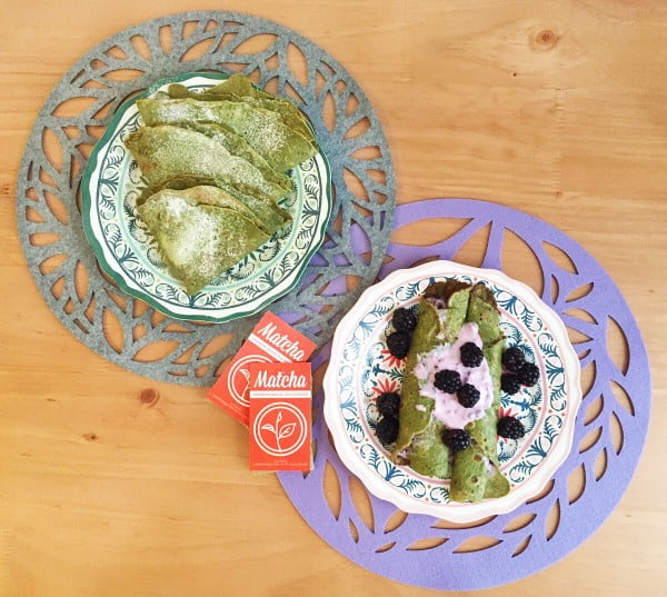 Matcha Crepe Recipe #crepes #recipe #dinner