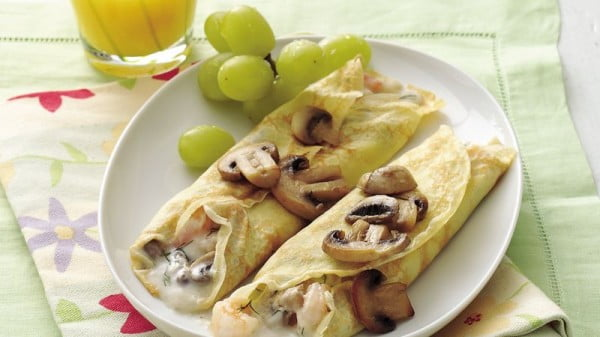 Savory Shrimp Crepes #crepes #recipe #dinner