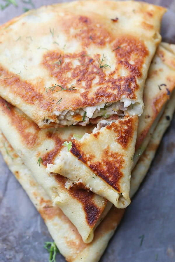 Savory Crepes with Meat Mushroom Veggie filling #crepes #recipe #dinner