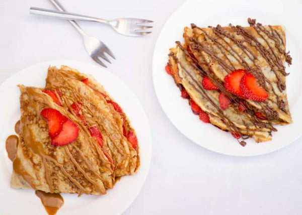 Nutella Crepes #crepes #recipe #dinner