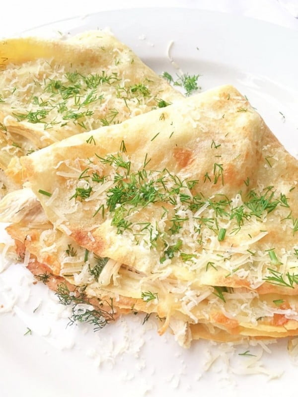 Easy Crepe Recipe With Chicken And Cheese #crepes #recipe #dinner