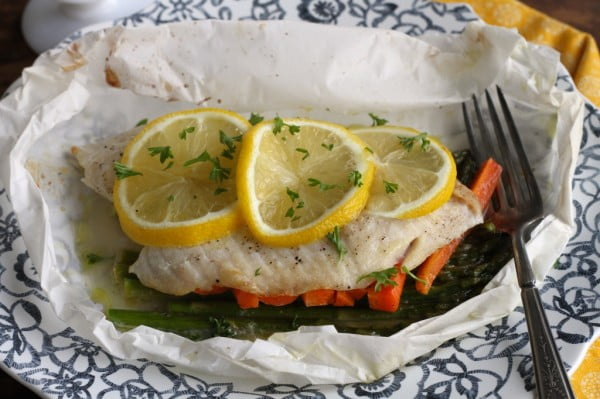 Fish Baked In Parchment #recipe #dinner #fish