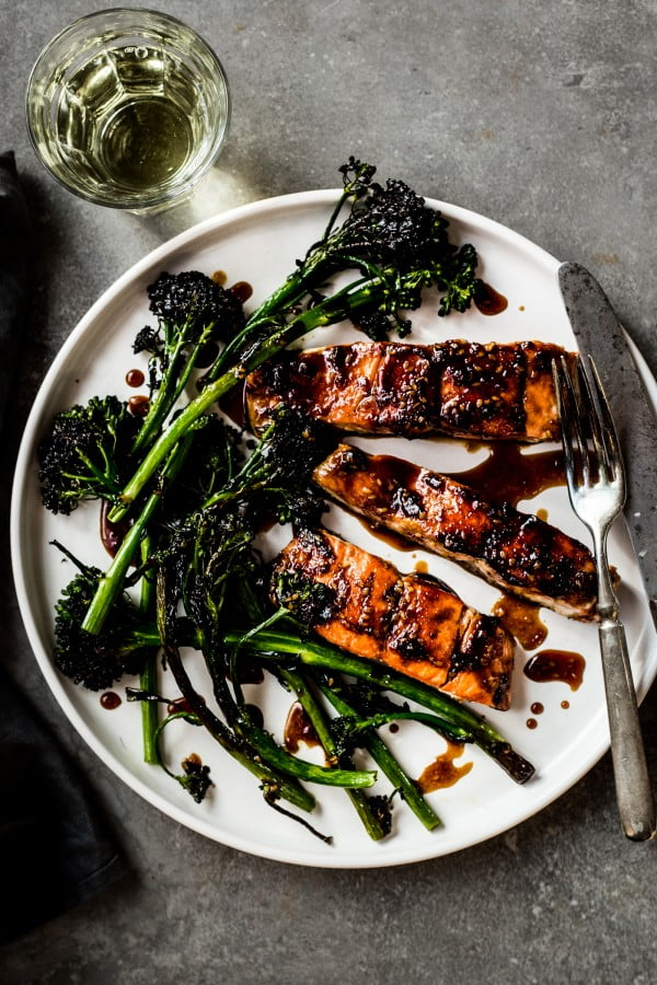 Teriyaki Salmon with Broccolini #recipe #fish #dinner