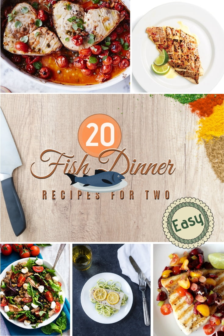 Want to cook fish for dinner? Here are 20 easy and delicious recipes for two! Great list! #recipes #fish #dinner