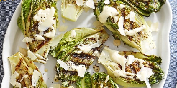 Charred Gem Lettuce #grill #dinner #recipe
