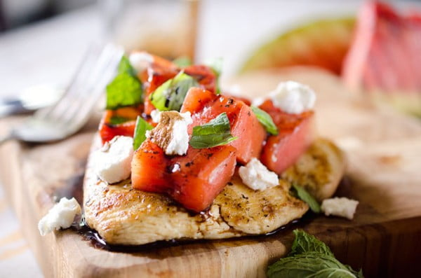 Grilled Watermelon & Balsamic Chicken #grill #dinner #recipe