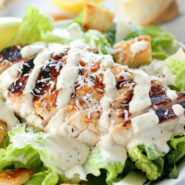 Grilled Chicken Caesar Salad #grill #dinner #recipe