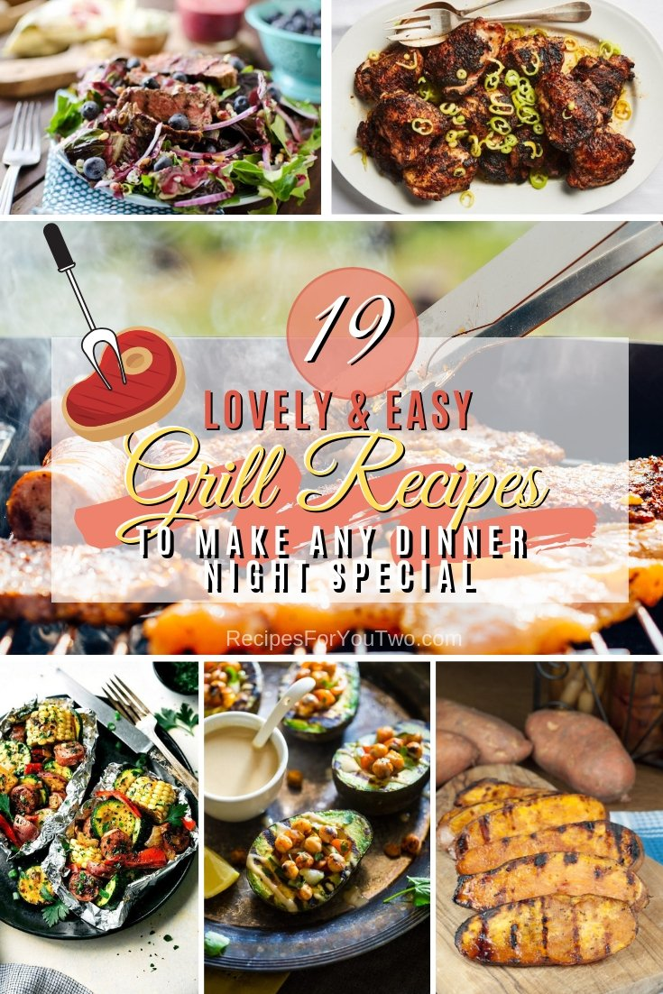 You don't even have to wait for the BBQ to use any of these amazing grill recipes. These are some great grill dinner recipes to make any night special. Great list! #recipe #grill #dinner