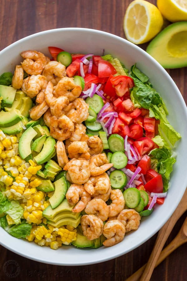 Avocado Shrimp Salad Recipe (VIDEO) #recipe #salad #healthy