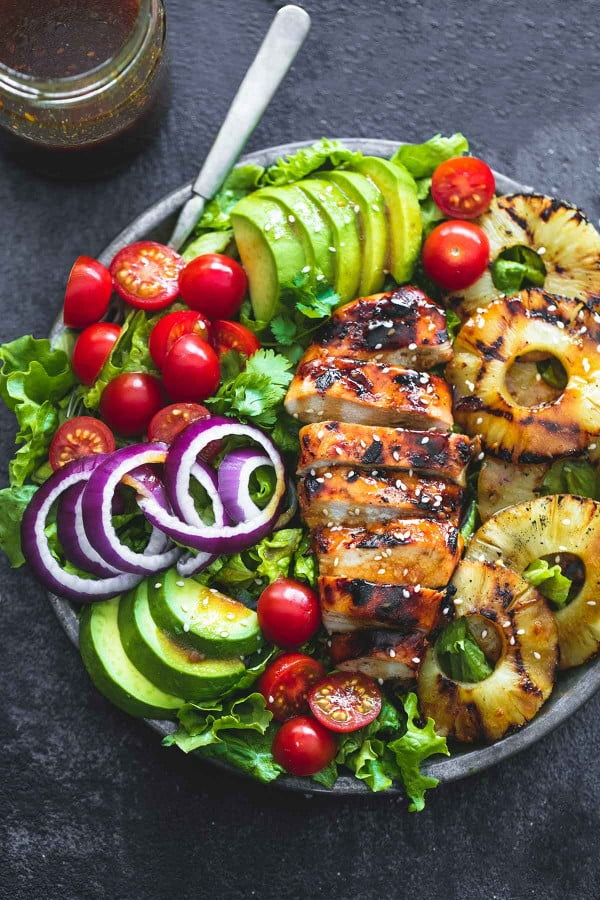 Grilled Teriyaki Chicken Salad #recipe #salad #healthy