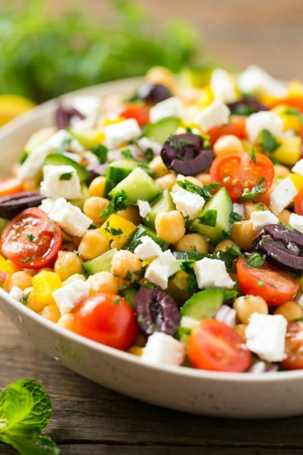 Chopped Greek Salad #recipe #salad #healthy