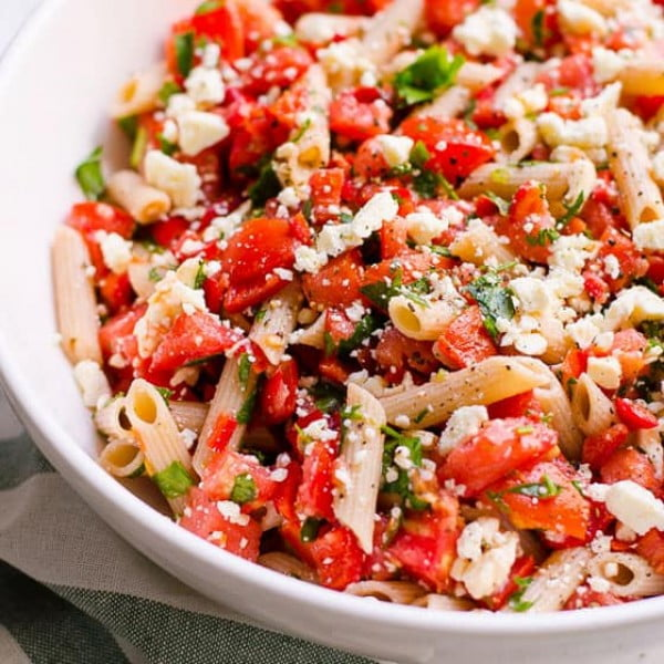 Tomato Pasta Salad #recipe #salad #healthy