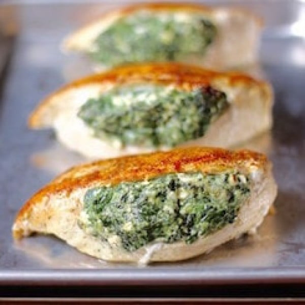 Spinach Stuffed Chicken Breasts #lowcalorie #recipe #dinner