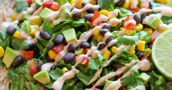 Easy Burrito Bowls #lowcalorie #recipe #dinner