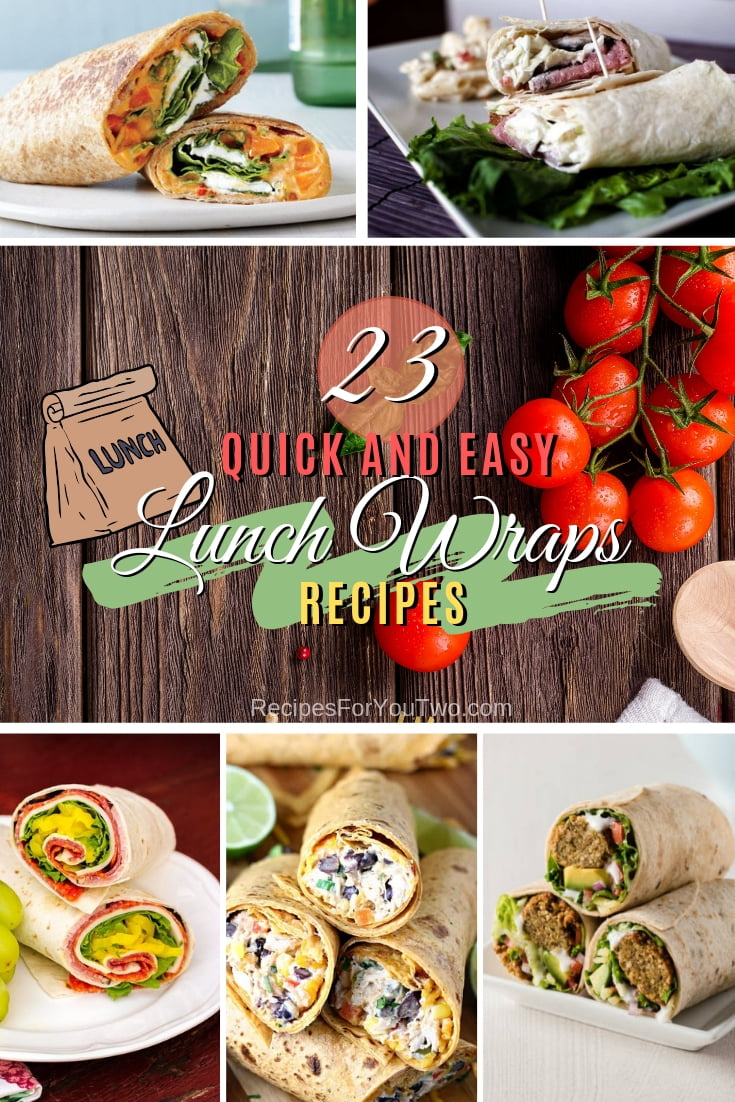 Keep packing your lunchbox with these quick, easy, and delicious wraps. Here are 23 amazing recipes to choose from! #recipe #lunch #wrap #dinner #snack
