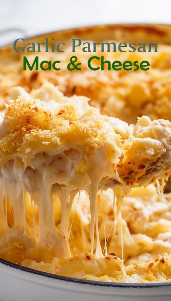 Garlic Parmesan Mac And Cheese #macncheese #dinner #recipe