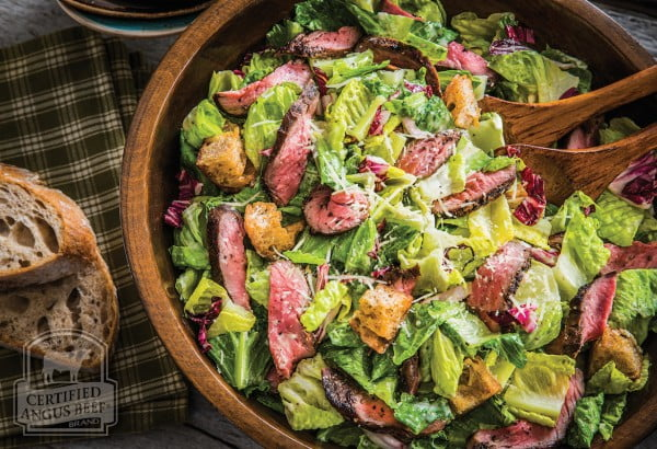 Grilled Steak Caesar Salad meat-salad