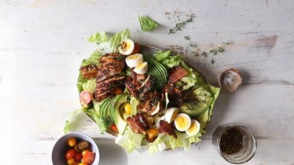 Grilled Balsamic Chicken Cobb Salad. #meat #salad #dinner #recipe