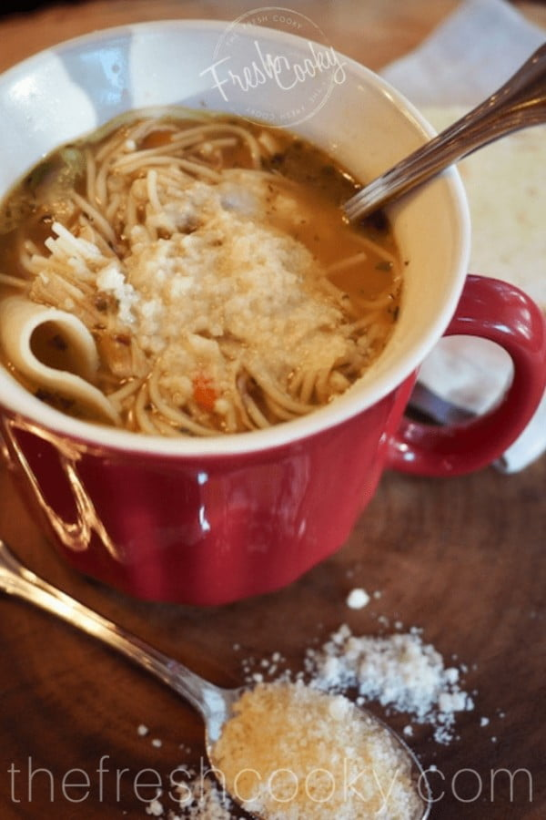 Old-Fashioned Chicken Noodle Soup #noodles #soup #dinner #recipe