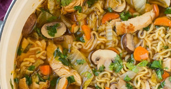 Asian Chicken Noodle Soup Recipe #noodles #soup #dinner #recipe