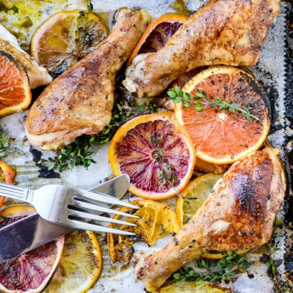 Roasted Chicken with Allspice and Citrus #onepan #recipe #dinner