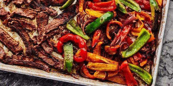 Pan Steak Fajitas #onepan #recipe #dinner