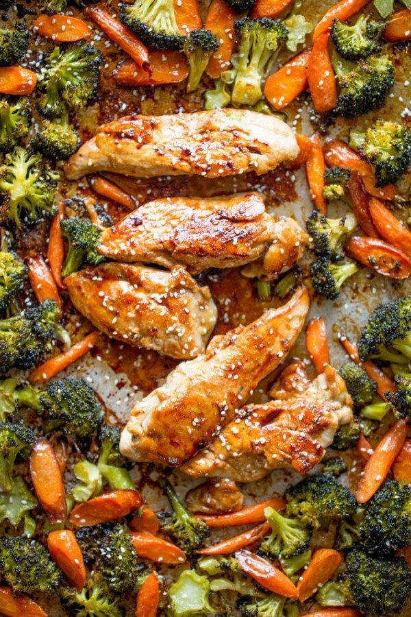Sheet Pan Korean Chicken and Vegetables #onepan #recipe #dinner