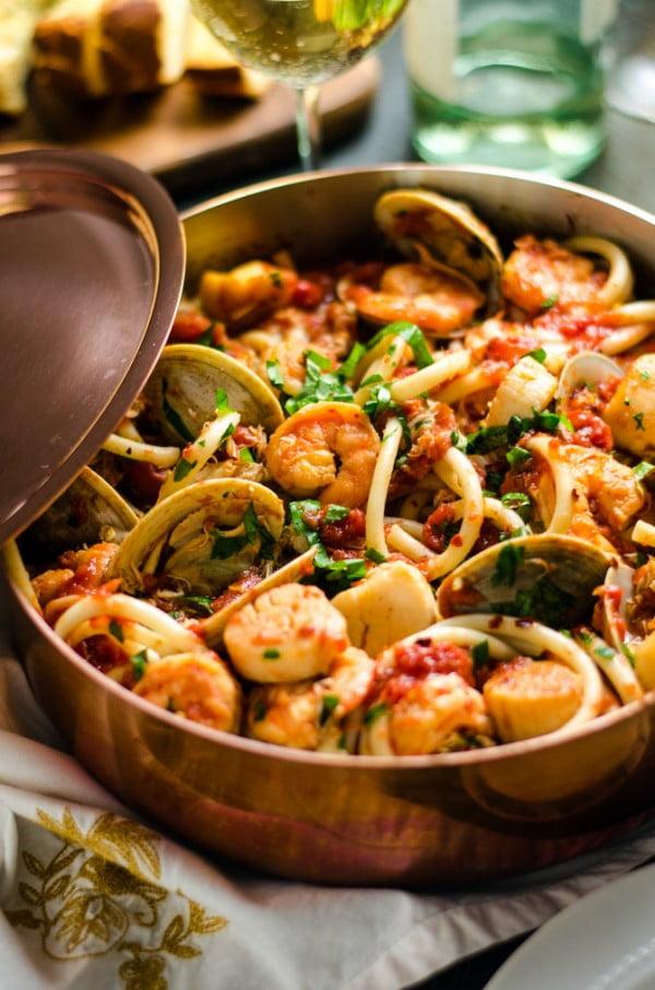 Seafood Fra Diavolo #pasta #dinner #recipe