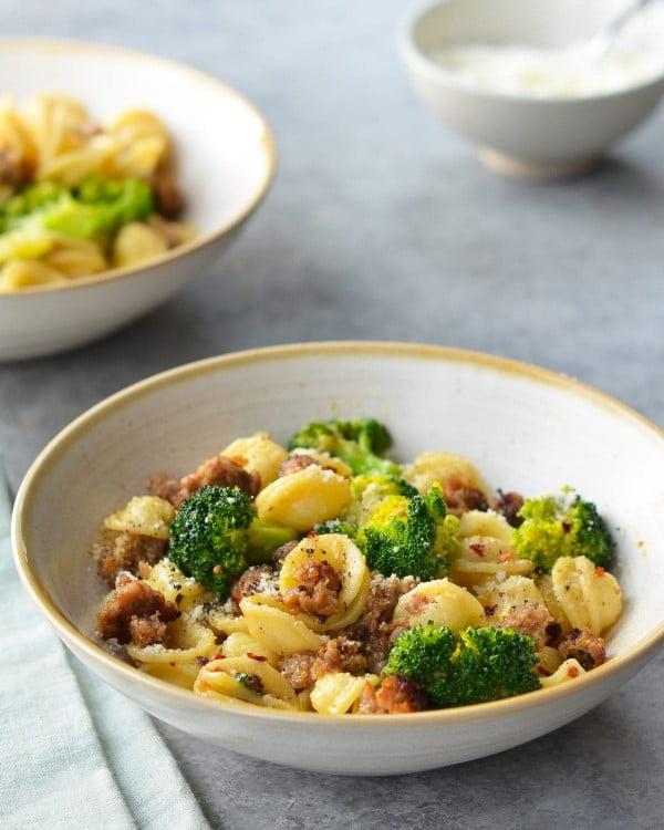 Orecchiette with Sausage and Broccoli #pasta #dinner #recipe